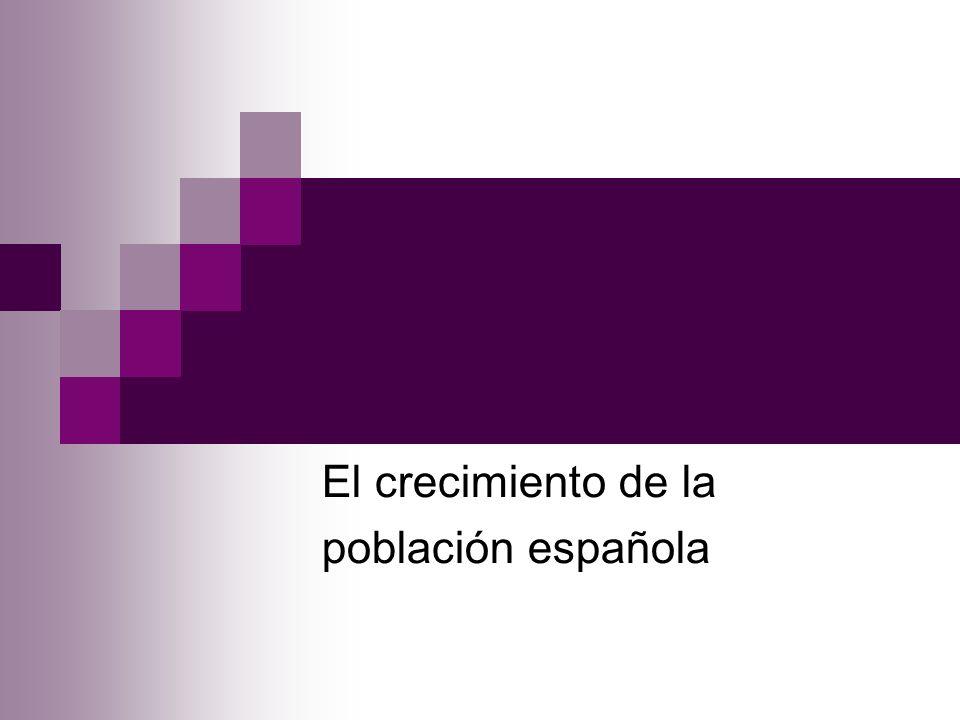 El crecimiento de la población española