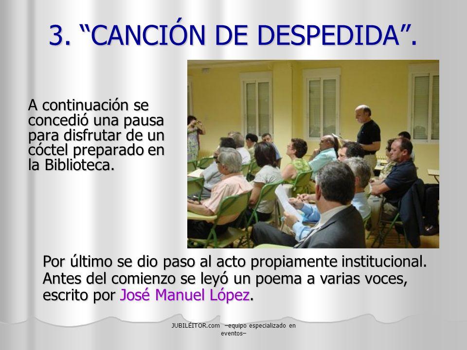3. CANCIÓN DE DESPEDIDA .