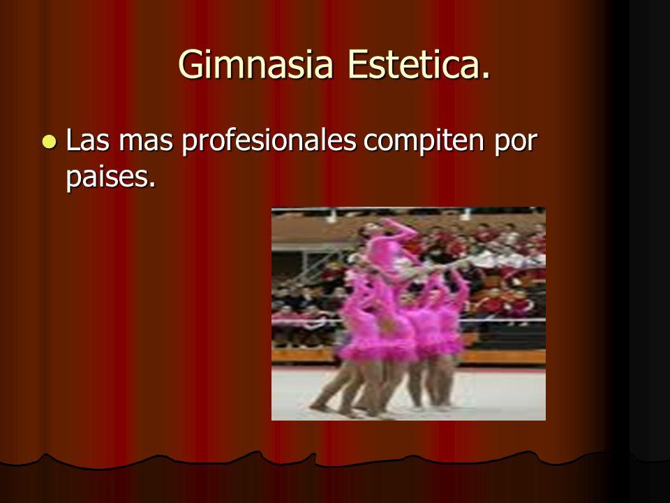 Gimnasia Estetica. Las mas profesionales compiten por paises.