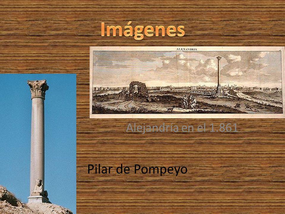 Imágenes Alejandría en el 1.861 Pilar de Pompeyo