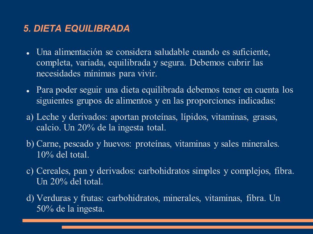 5. DIETA EQUILIBRADA