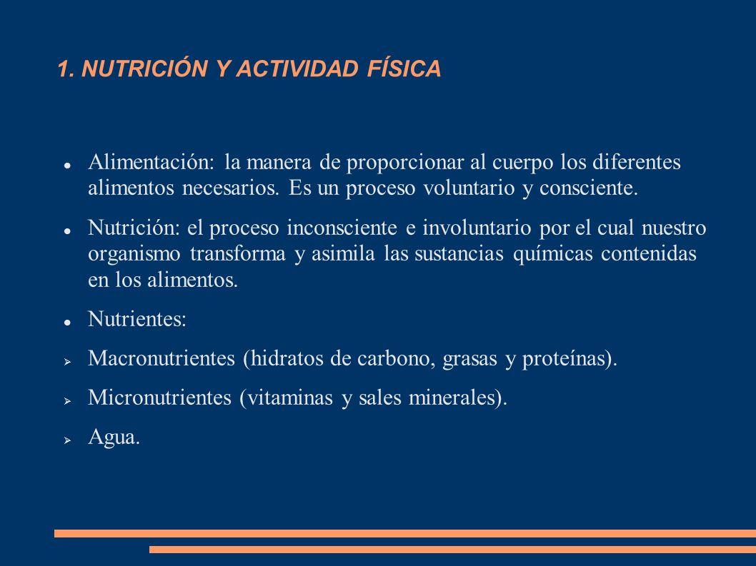 1. NUTRICIÓN Y ACTIVIDAD FÍSICA