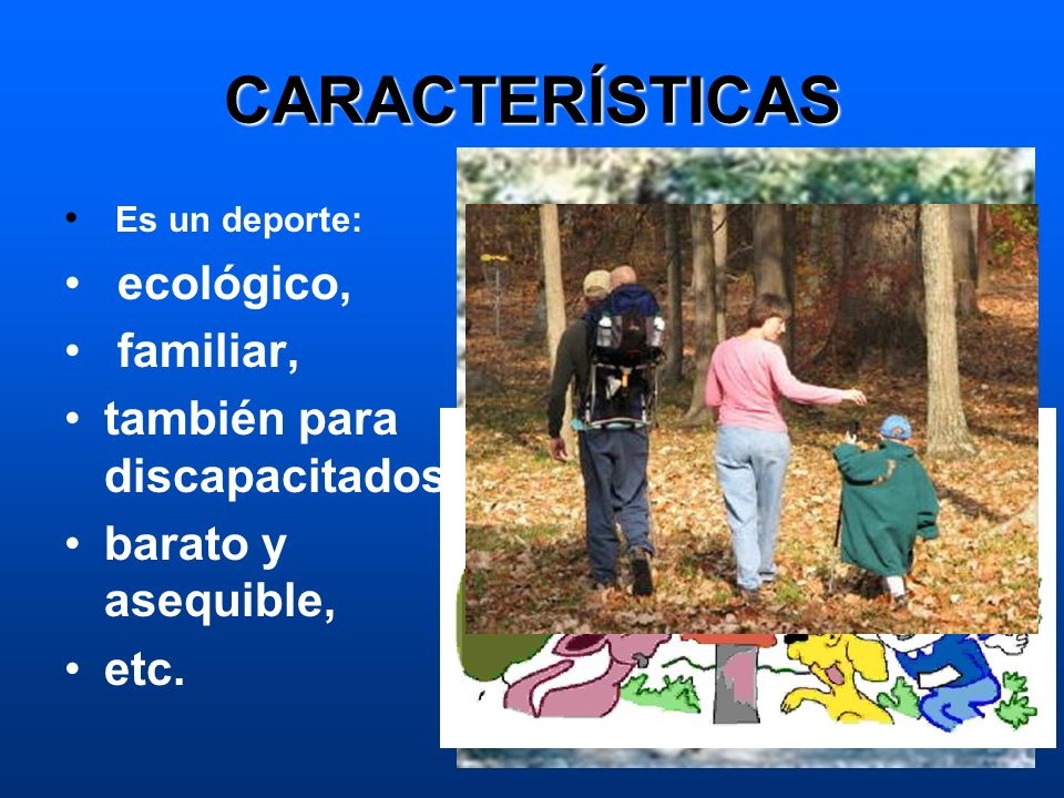 CARACTERÍSTICAS ecológico, familiar, también para discapacitados
