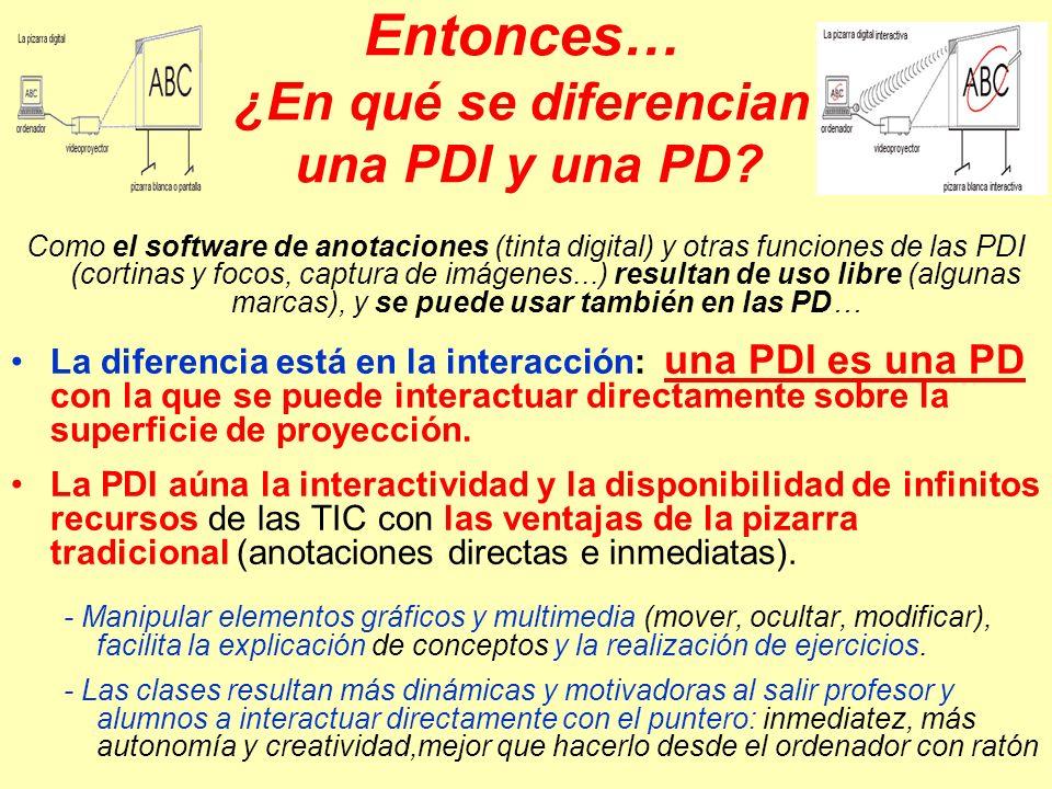 Entonces… ¿En qué se diferencian una PDI y una PD