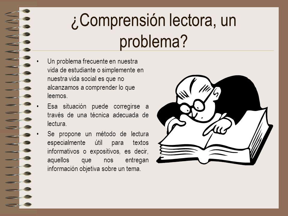 ¿Comprensión lectora, un problema