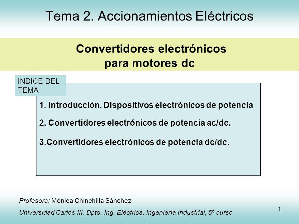 Tema 2. Accionamientos Eléctricos Convertidores electrónicos para motores dc
