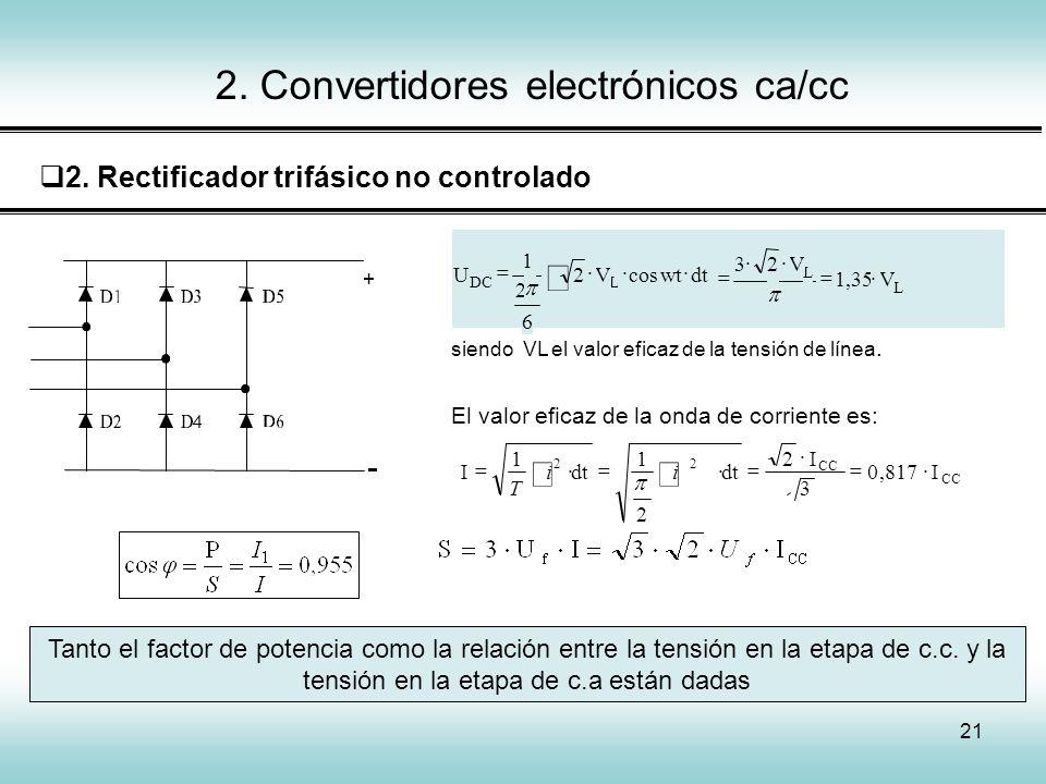 2. Convertidores electrónicos ca/cc