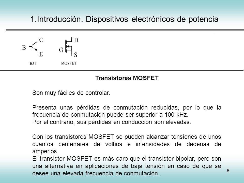1.Introducción. Dispositivos electrónicos de potencia