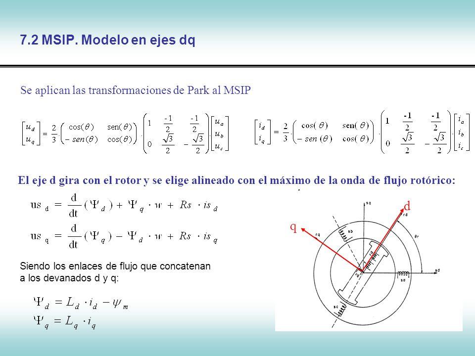 7.2 MSIP. Modelo en ejes dq d q