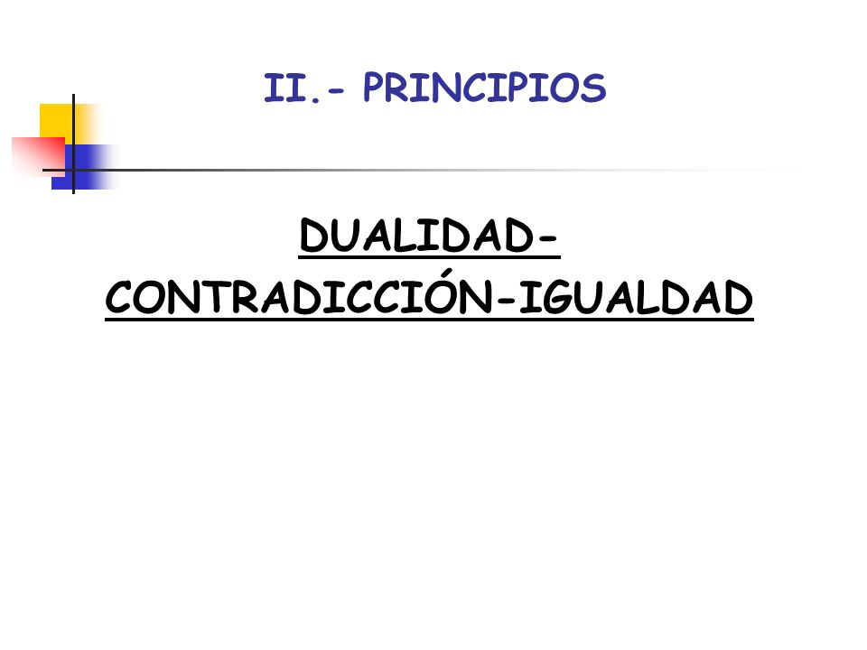 CONTRADICCIÓN-IGUALDAD