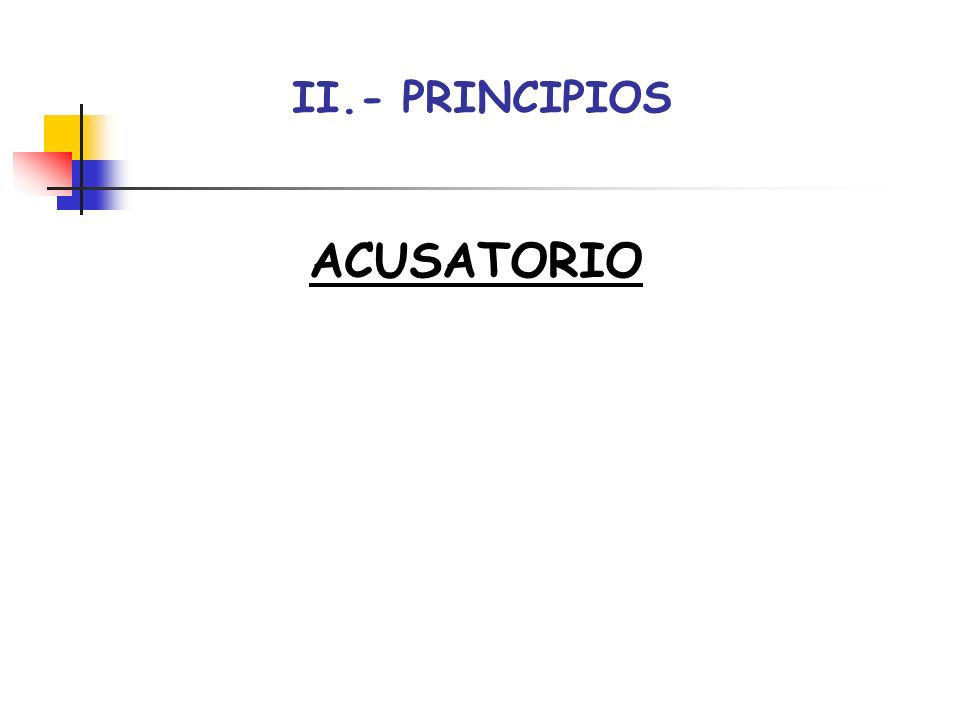 II.- PRINCIPIOS ACUSATORIO