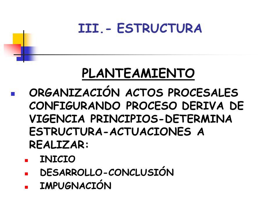 III.- ESTRUCTURA PLANTEAMIENTO