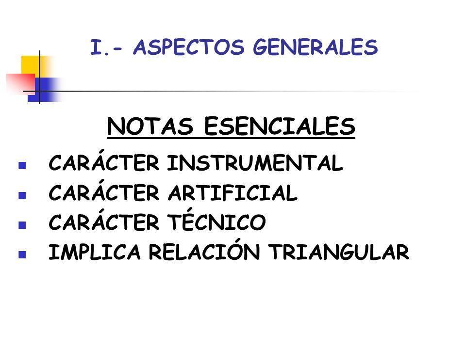 NOTAS ESENCIALES I.- ASPECTOS GENERALES CARÁCTER INSTRUMENTAL