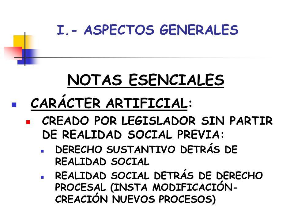 NOTAS ESENCIALES I.- ASPECTOS GENERALES CARÁCTER ARTIFICIAL: