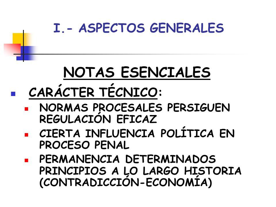 NOTAS ESENCIALES I.- ASPECTOS GENERALES CARÁCTER TÉCNICO: