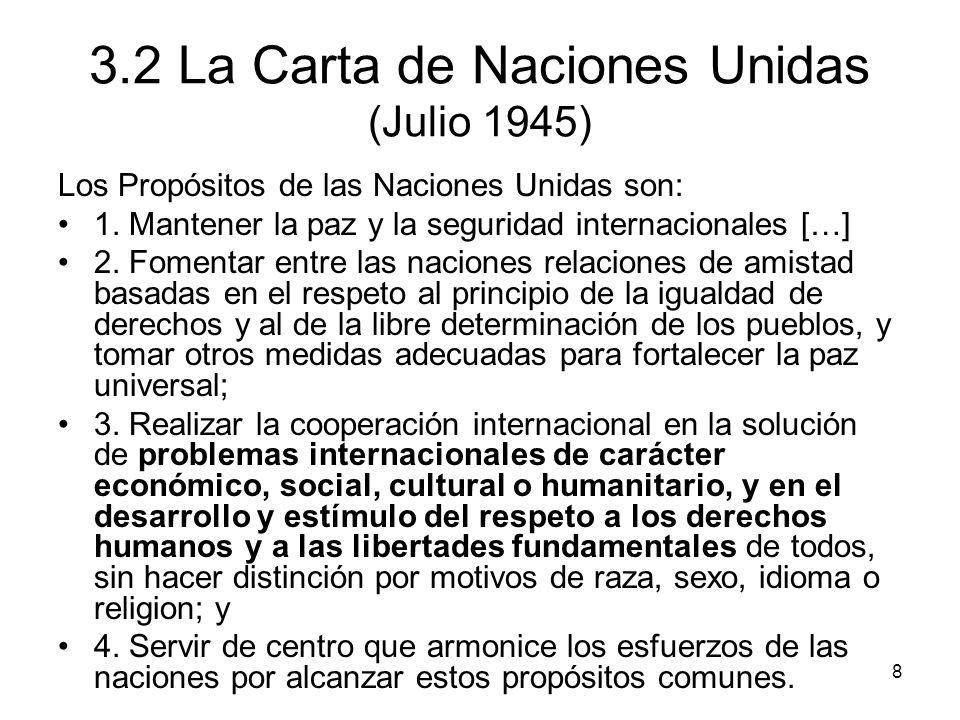 3.2 La Carta de Naciones Unidas (Julio 1945)