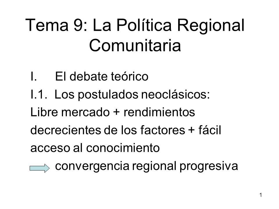Tema 9: La Política Regional Comunitaria