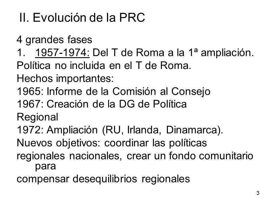 II. Evolución de la PRC 4 grandes fases