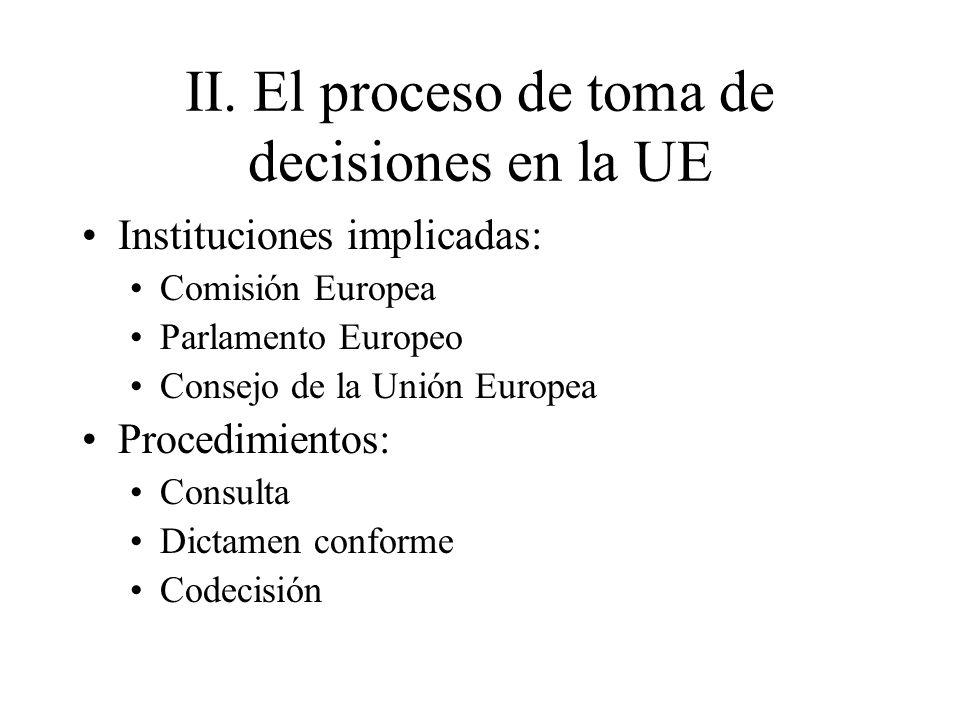II. El proceso de toma de decisiones en la UE