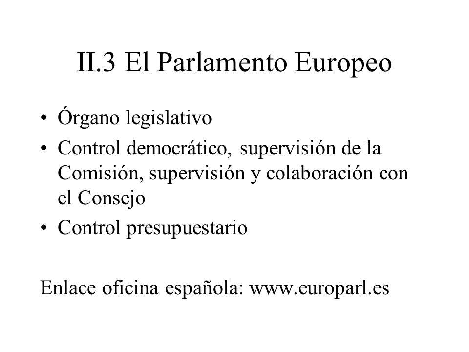 II.3 El Parlamento Europeo
