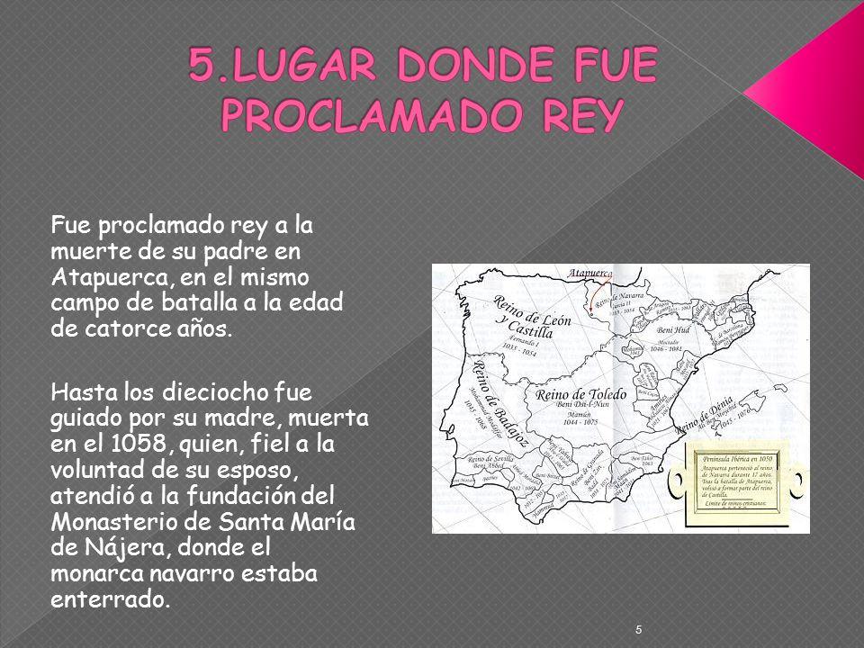 5.LUGAR DONDE FUE PROCLAMADO REY