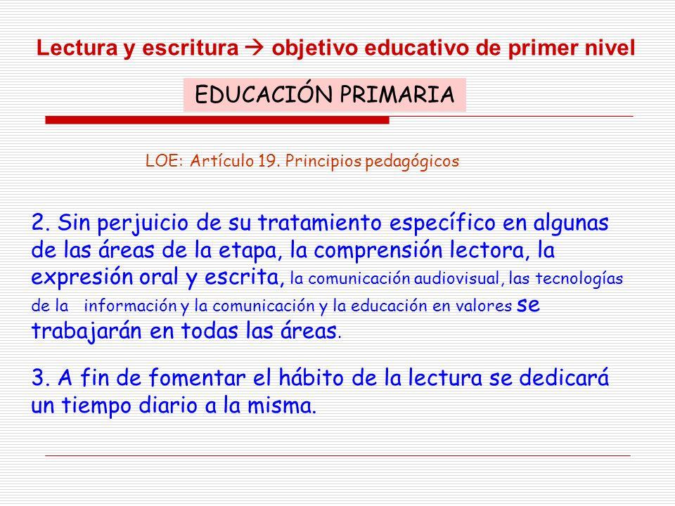 LOE: Artículo 19. Principios pedagógicos