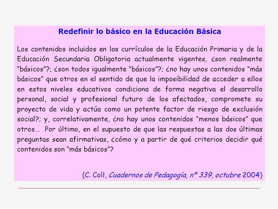 Redefinir lo básico en la Educación Básica