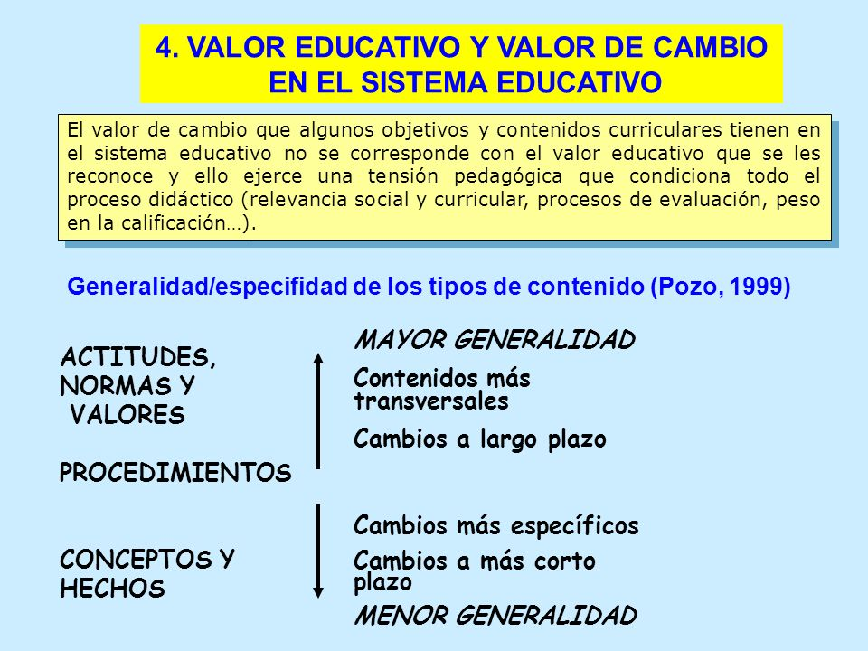 4. VALOR EDUCATIVO Y VALOR DE CAMBIO EN EL SISTEMA EDUCATIVO