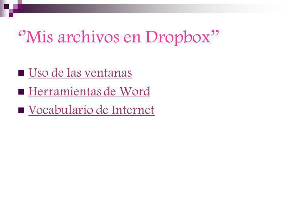 ''Mis archivos en Dropbox''