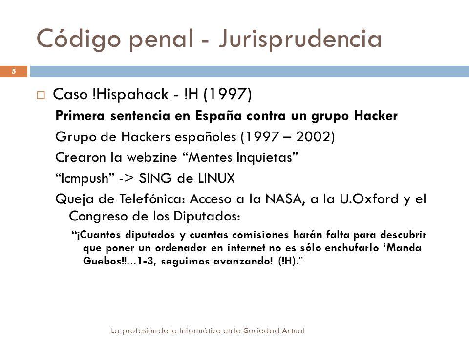 Código penal - Jurisprudencia