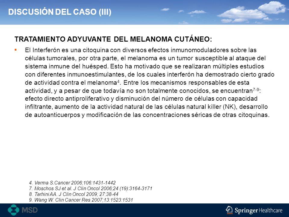 DISCUSIÓN DEL CASO (III)