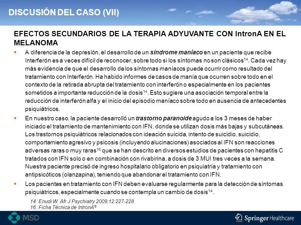 DISCUSIÓN DEL CASO (VII)