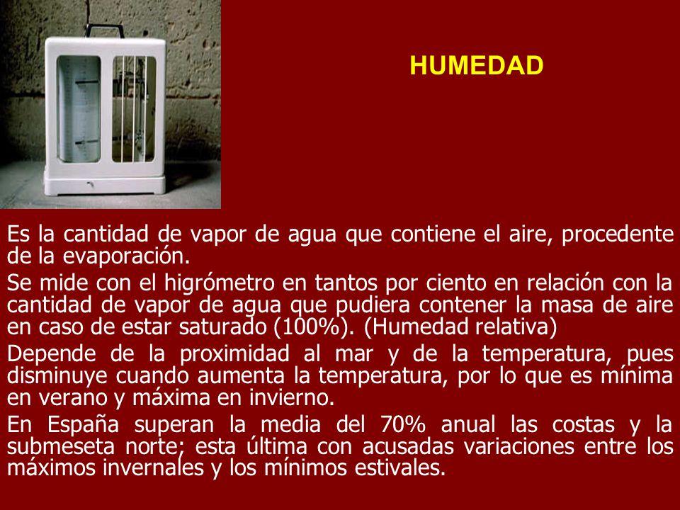 4 1 parte caracterizaci n general del clima en espa a - Humedad relativa espana ...