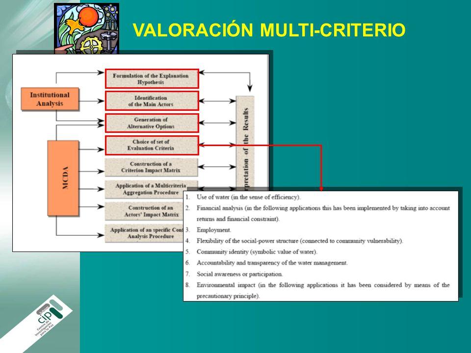 VALORACIÓN MULTI-CRITERIO