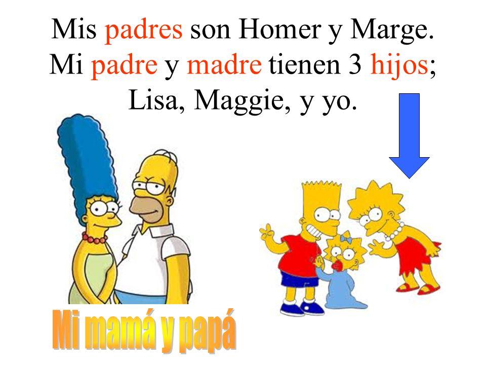 Mis padres son Homer y Marge