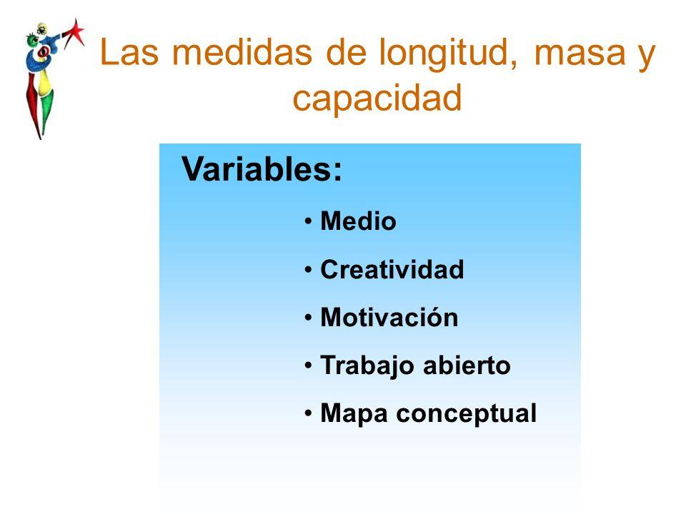 Las medidas de longitud, masa y capacidad