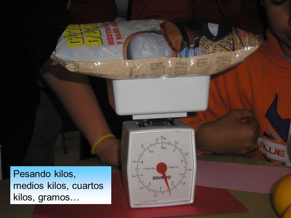 Pesando kilos, medios kilos, cuartos kilos, gramos…