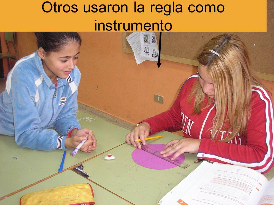 Otros usaron la regla como instrumento