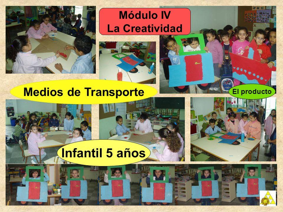 Infantil 5 años Medios de Transporte Módulo IV La Creatividad