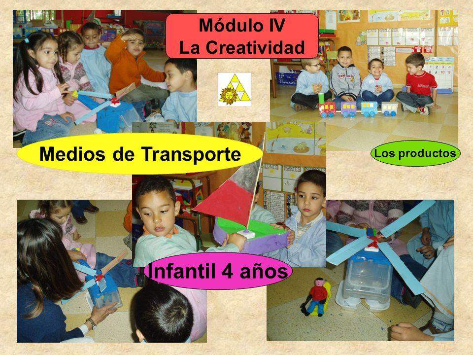 Infantil 4 años Medios de Transporte Módulo IV La Creatividad