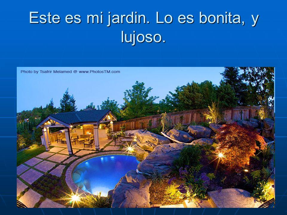 Este es mi jardin. Lo es bonita, y lujoso.