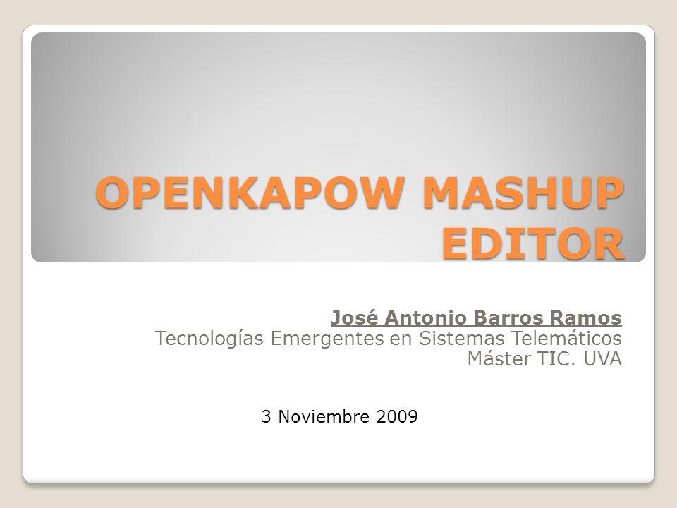 OPENKAPOW MASHUP EDITOR