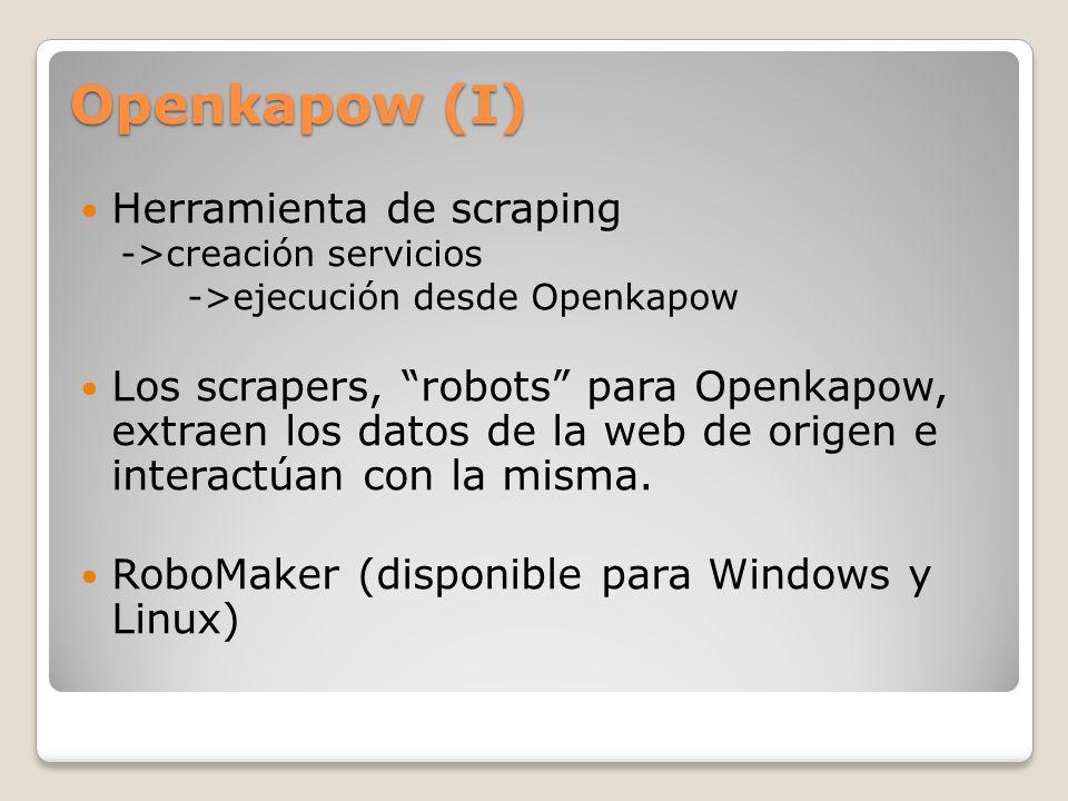 Openkapow (I) Herramienta de scraping