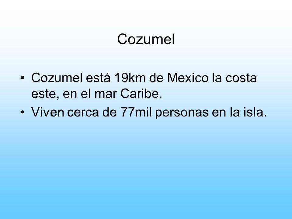 Cozumel Cozumel está 19km de Mexico la costa este, en el mar Caribe.