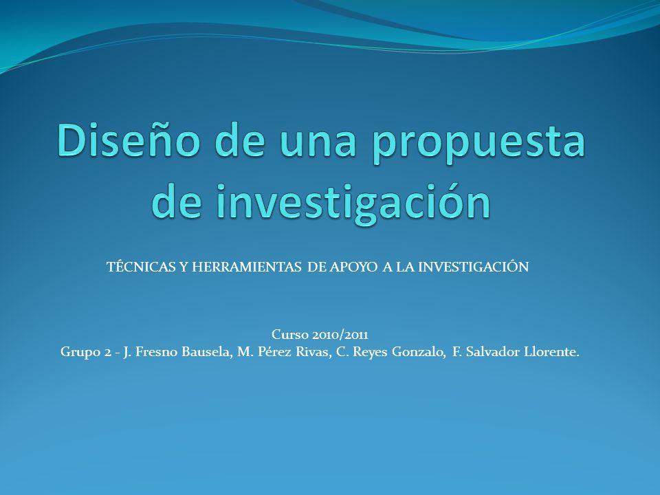 Diseño de una propuesta de investigación
