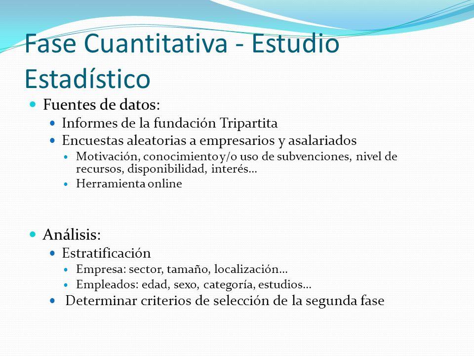 Fase Cuantitativa - Estudio Estadístico