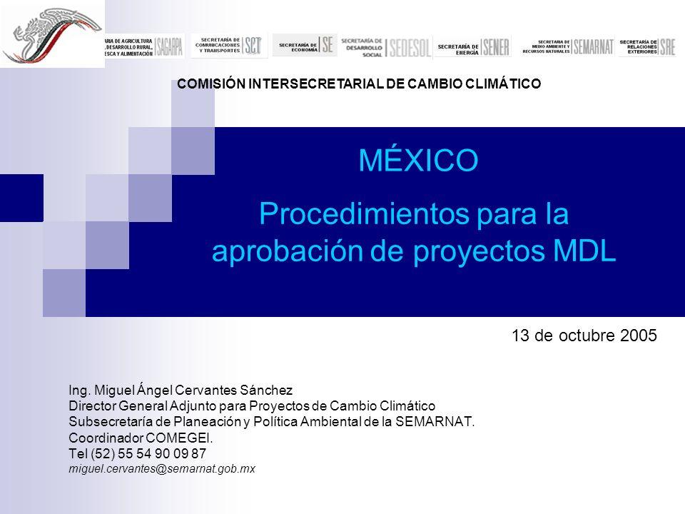 Procedimientos para la aprobación de proyectos MDL