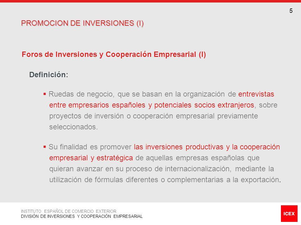 PROMOCION DE INVERSIONES (I)