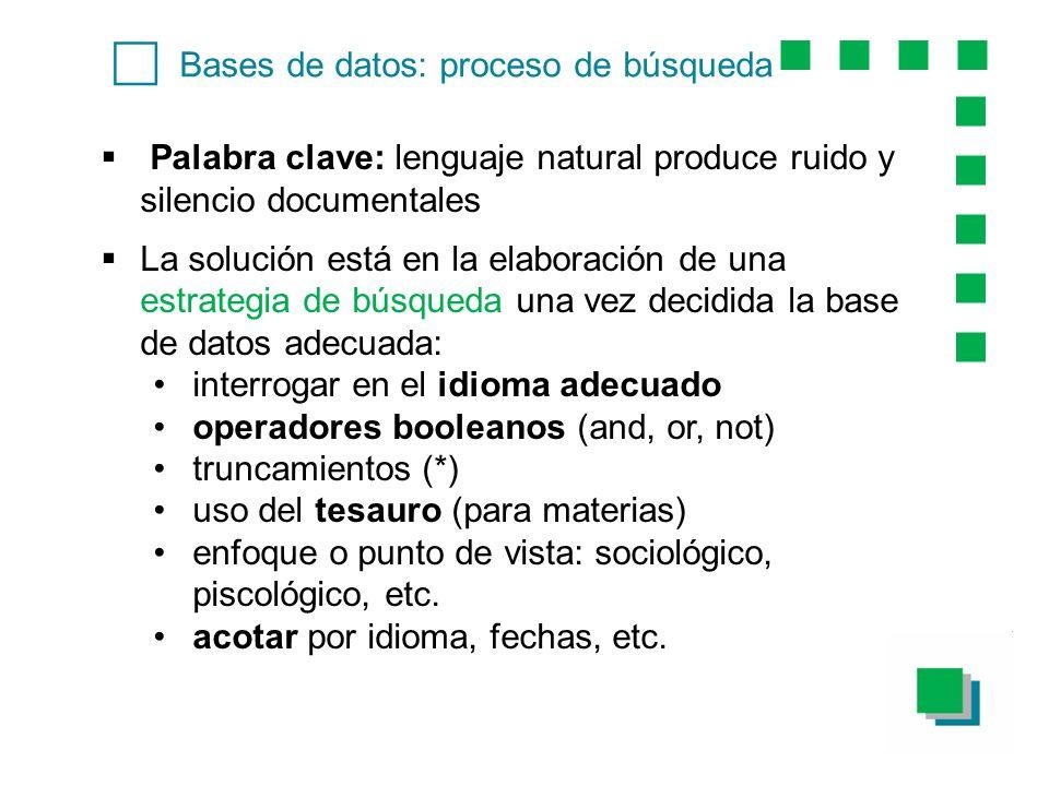 c Bases de datos: proceso de búsqueda