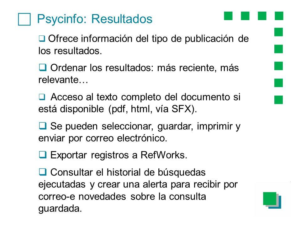 c Psycinfo: Resultados